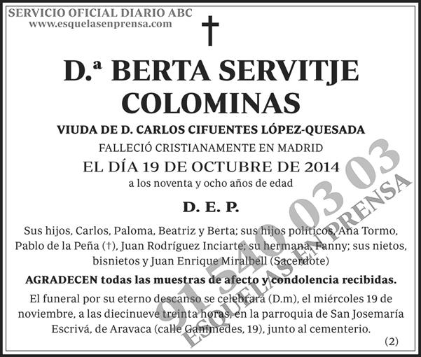 Berta Servitje Colominas